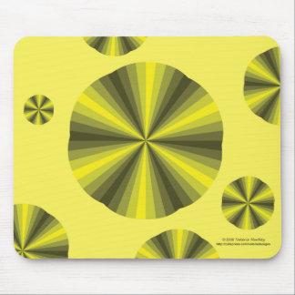 目の錯覚の黄色のマウスパッド マウスパッド