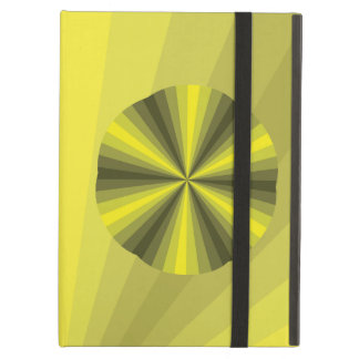 目の錯覚の黄色のiPadのPowisの場合 iPad Airケース