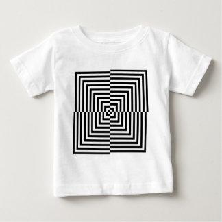 目の錯覚パターン ベビーTシャツ
