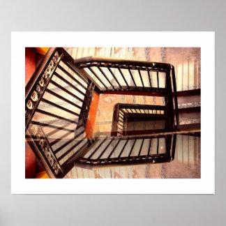 目の錯覚階段 ポスター