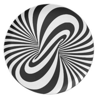 目の錯覚3Dの螺線形 プレート