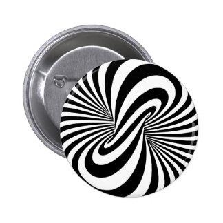 目の錯覚3Dの螺線形 5.7CM 丸型バッジ
