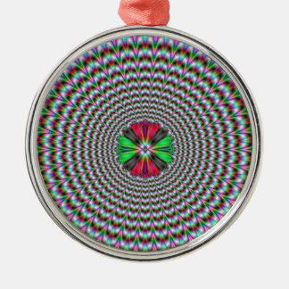 目の錯覚 シルバーカラー丸型オーナメント