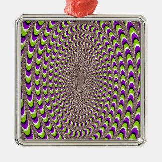 目の錯覚 メタルオーナメント