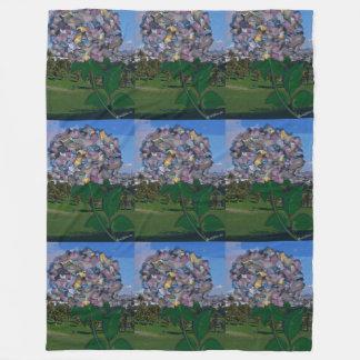 目の錯覚:  花はドロレス公園で育ちます フリースブランケット