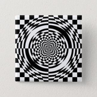 目の錯覚 5.1CM 正方形バッジ