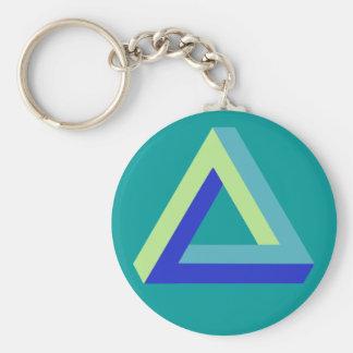目の錯覚: penroseの三角形 キーホルダー