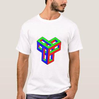 目の錯覚RGBのブロック Tシャツ