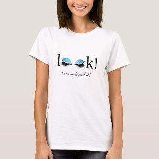 目の鞭の化粧の目の球のおもしろTシャツを見て下さい Tシャツ