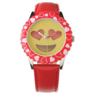 目のemojiのためのかわいいハート 腕時計