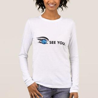 """目は会います""""9月サファイア青""""の 長袖Tシャツ"""