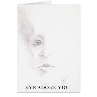 目は崇拝します カード