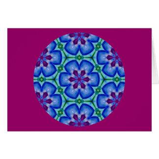 目まぐるしい曼荼羅の花柄Design.2 カード