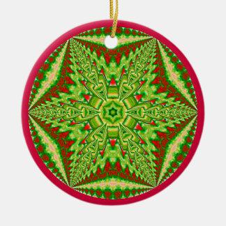 目まぐるしい雪片Ornament.2 セラミックオーナメント