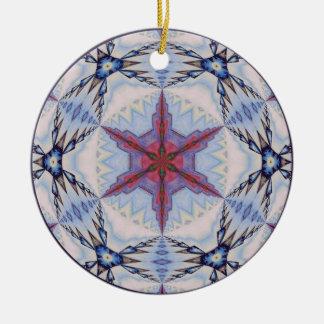 目まぐるしい雪片Ornament.5 セラミックオーナメント