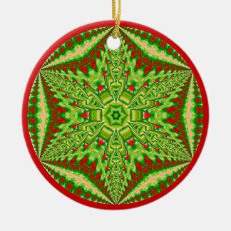 目まぐるしい雪片Ornament.7 セラミックオーナメント