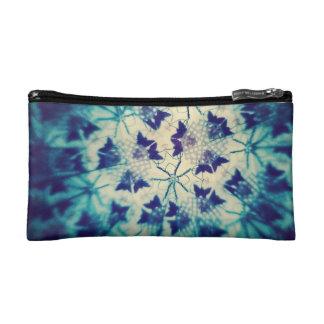 目まぐるしい青い蝶 コスメティックバッグ