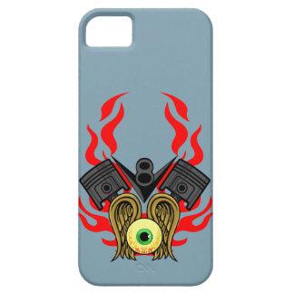 目を飛ばすV8のピストン・ヘッド iPhone SE/5/5s ケース