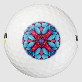 目キャンデーのヴィンテージの万華鏡のように千変万化するパターンのゴルフ・ボール ゴルフボール