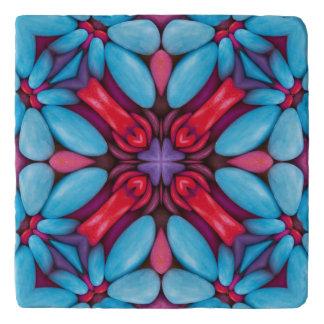 目キャンデーのヴィンテージの万華鏡のように千変万化するパターンの石Trivets トリベット