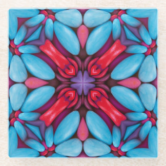 目キャンデーの   パタングラスのコースター ガラスコースター