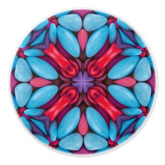 目キャンデーパターン陶磁器のノブおよび引き セラミックノブ