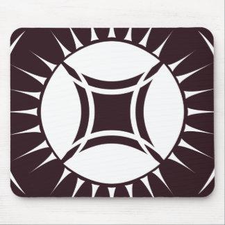 目光線の円形浮彫り マウスパッド
