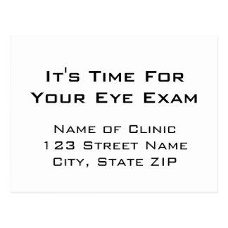 目検査のアポイントメントのメモの視力検査表のスタイル ポストカード