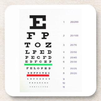 目検査の図表 コースター