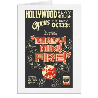目標の火ハリウッドを1937 WPA用意して下さい カード
