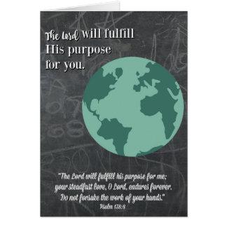 目的宗教卒業カード グリーティングカード