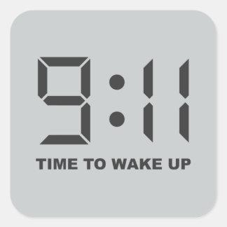 目覚める9:11の時間 スクエアシール