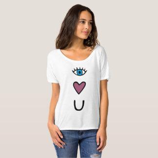 目、ハート、U - I愛emojiのTシャツ Tシャツ