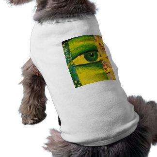 目-金ゴールド及びエメラルドの認識度犬のタンクトップ ペット服