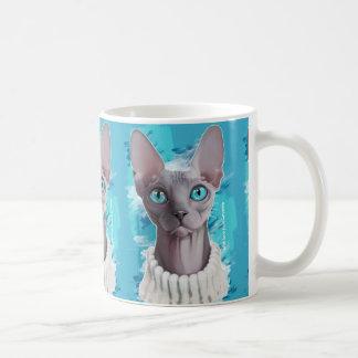 目(Sphynx猫)の天国 コーヒーマグカップ
