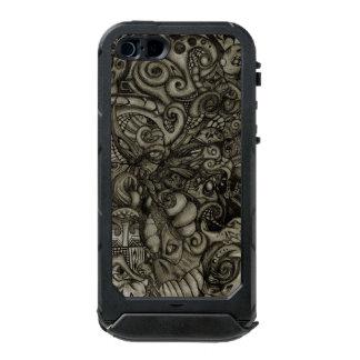 目Spyderの鬼の抽象芸術の種族のアートワーク ウォータープルーフiPhone SE/5/5sケース
