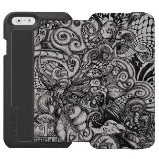 目Spyderの鬼の抽象芸術の種族のアートワーク Incipio Watson™ iPhone 6 ウォレットケース