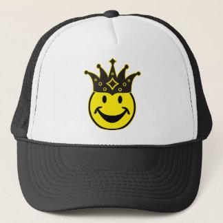 盲目のにこやかな黄色 + あなたのbackg。 及びアイディア キャップ