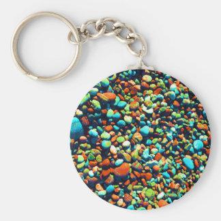 盲目のビーチの石 キーホルダー