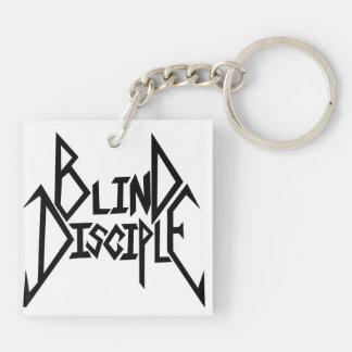 盲目の弟子b/wのロゴのkeychain キーホルダー