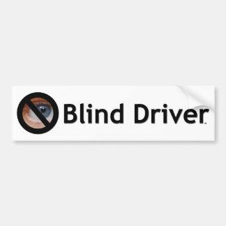 盲目の運転者 バンパーステッカー