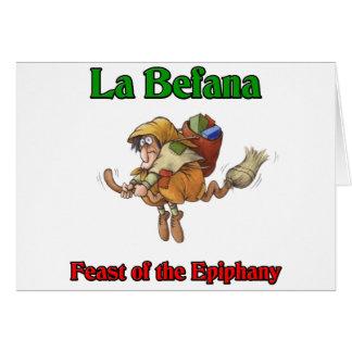 直感のLaのBefana (クリスマスの魔法使い)の饗宴 カード