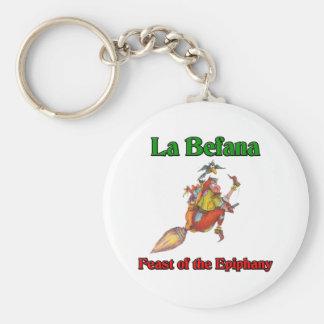 直感のLaのBefana (クリスマスの魔法使い)の饗宴 キーホルダー
