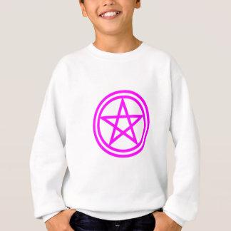 直立したピンクの五芒星 スウェットシャツ