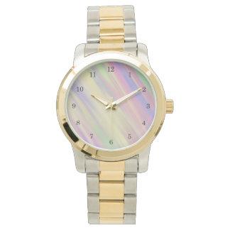 直面される絞り染めのスタイルの数々のな色によって混ぜられる背景 腕時計