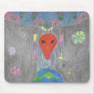 相互作用UFOの地球およびエイリアンのマウスパッド マウスパッド
