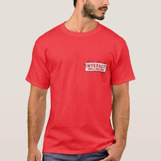 相互! 小型のロゴの赤か白 Tシャツ