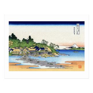 相州江の島, 北斎 葉書き