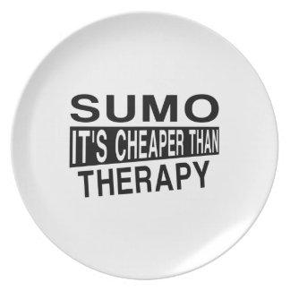 相撲それはセラピーより安いです プレート