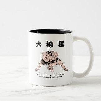相撲のマグ ツートーンマグカップ